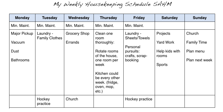 home sanctuary setting up a real world housekeeping schedule