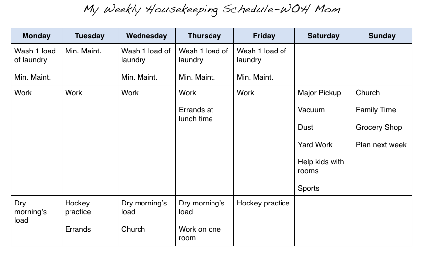 Nice Picture 14 · Download Housekeeping Schedule WOH