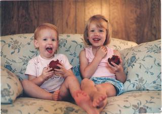 The original Company girls--my daughters--Meghan and Lauren.