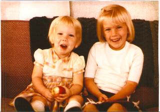 My sister, Katherine and me.